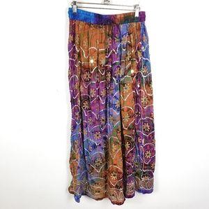 Dresses & Skirts - Boho Colorful Tie Dye Flowy Festival Maxi Skirt